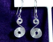 Sterling Silver EARRINGS Celtic SUN Symbol