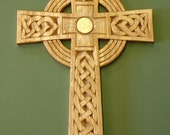 Hand carved Celtic cross Reserved for Shellie O Neal