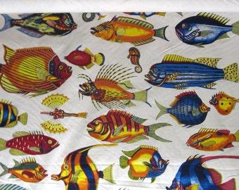TROPICAL FISH a Design Legacy screenprint original design fabric