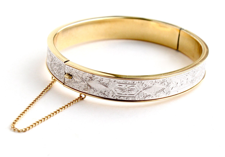 vintage 14k overlay bracelet signed krementz by maejeanvintage