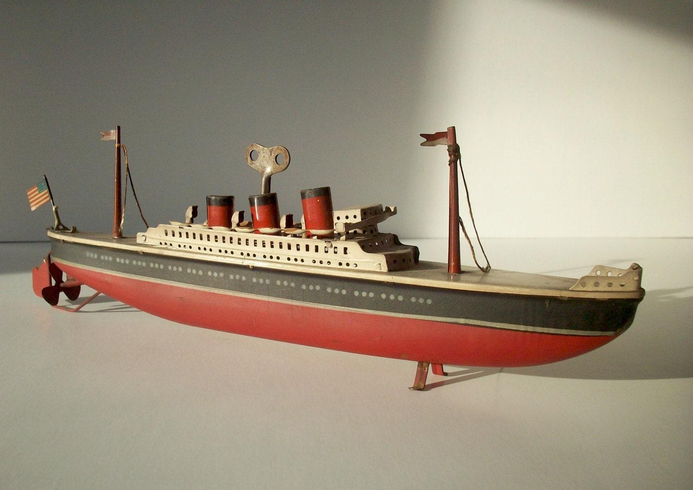 Vintage Toy Boat 32