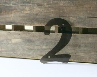 Vintage Plastic Number 2, Black 2, Number #2, House Number, Sign Number, Plastic Number, Sign Making