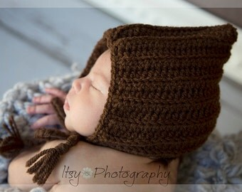 Newborn Ribbed Pixie Bonnet, Ribbed Gnome Hat, Newborn Hat, Photography Prop, Picture Accessory, MADE TO ORDER.