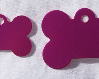Pet Tag - Engraved - Small Bone - 2 Sided