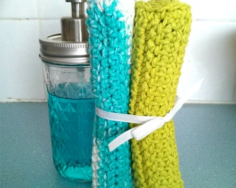 Crocheted Cotton Dish Cloths