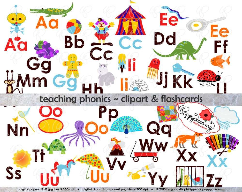 Worksheet Phonics Flashcards teaching phonics clipart digital flashcards by poppydreamz