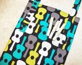 Clothespin Bag- Peg Bag- Organizer- Laundry- Groovy Guitars
