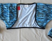 BOLERO - Cycling Bolero / Shrug-Blue Tiger Print - S/M or L/XL
