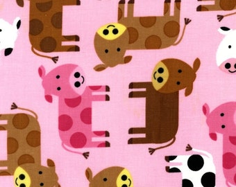 Urban Zoologie Pink Cows for Robert Kaufman 1/2 yard