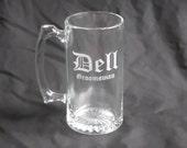 9 Custom Etched Groomsmen Beer Mugs
