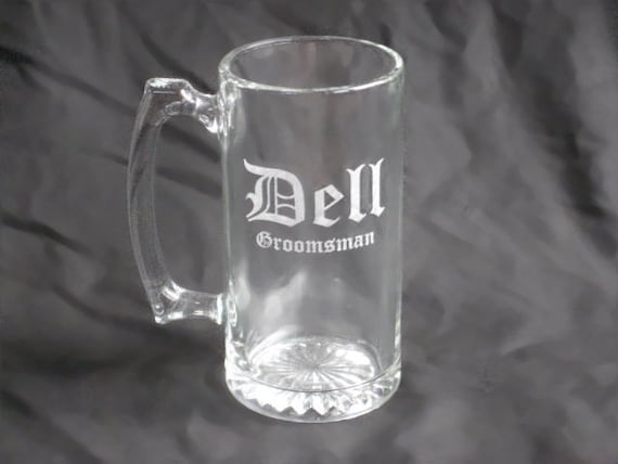 Four Custom Etched Beer Mugs