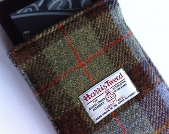 Harris tweed paperwhite or E-Reader kindle cover case sleeve made in Scotland