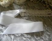 The Addison Wedding Hair Band, Wedding Hair Ribbon, White Wedding Hairpiece, Romantic Bridal Headband, Weddings, Bridal Accessories,