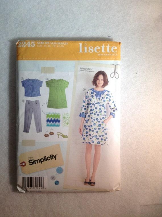 Simplicity Pattern 2245 new uncut pattern Dress, Tunic, Pant