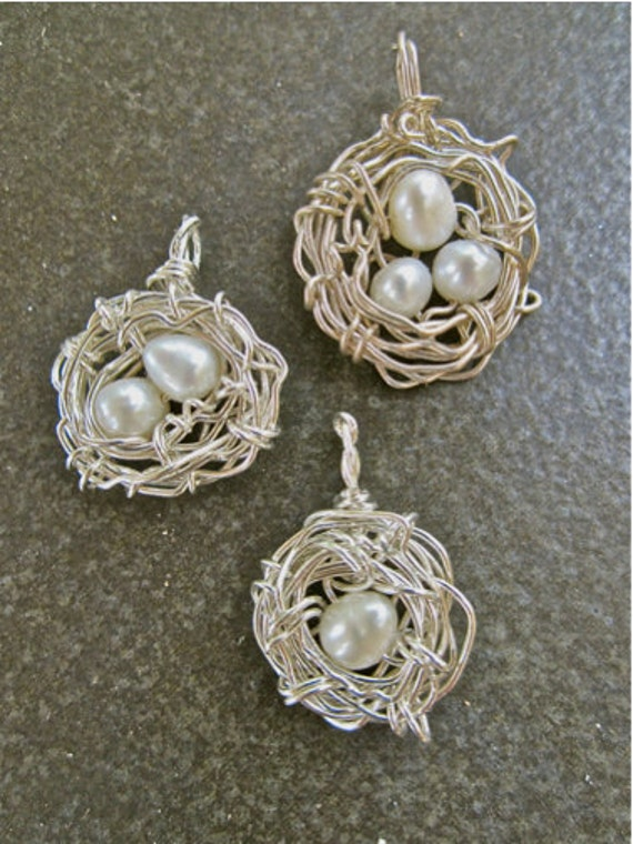 Bird Nest Necklace / Sterling Silver/ One Thousand Gifts