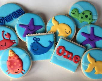 Ocean Animal Underwater Party Sugar Cookie Collection