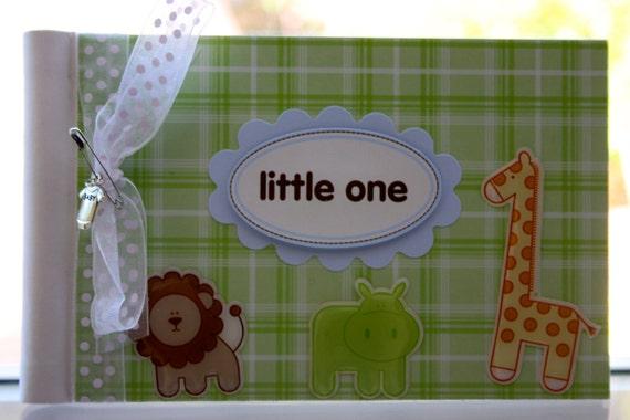 Baby Mini Photo Album/Blank Baby Journal-Animals