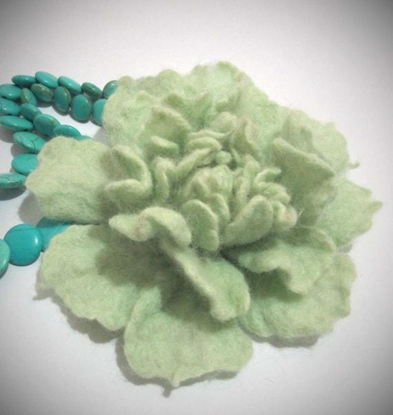 SALE Felt Flower Brooch Eco-friendly hat pin