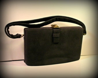 Vintage Black Never Used 1950's Handbag