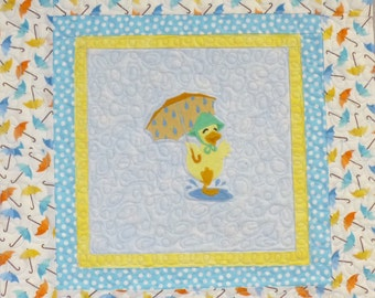 Singing in the Rain Quilted Wallhanging