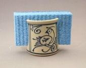 Sponge Holder  Blue Bird on   Stoneware