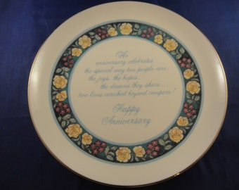 Happy Anniversary Plate American Greetings Lasting Memories