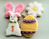 EASTER Cookies, Decorated bunny,daisy,butterfly and egg cookies