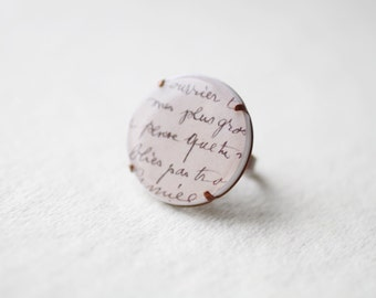 Letter From Paris Oversized Ring
