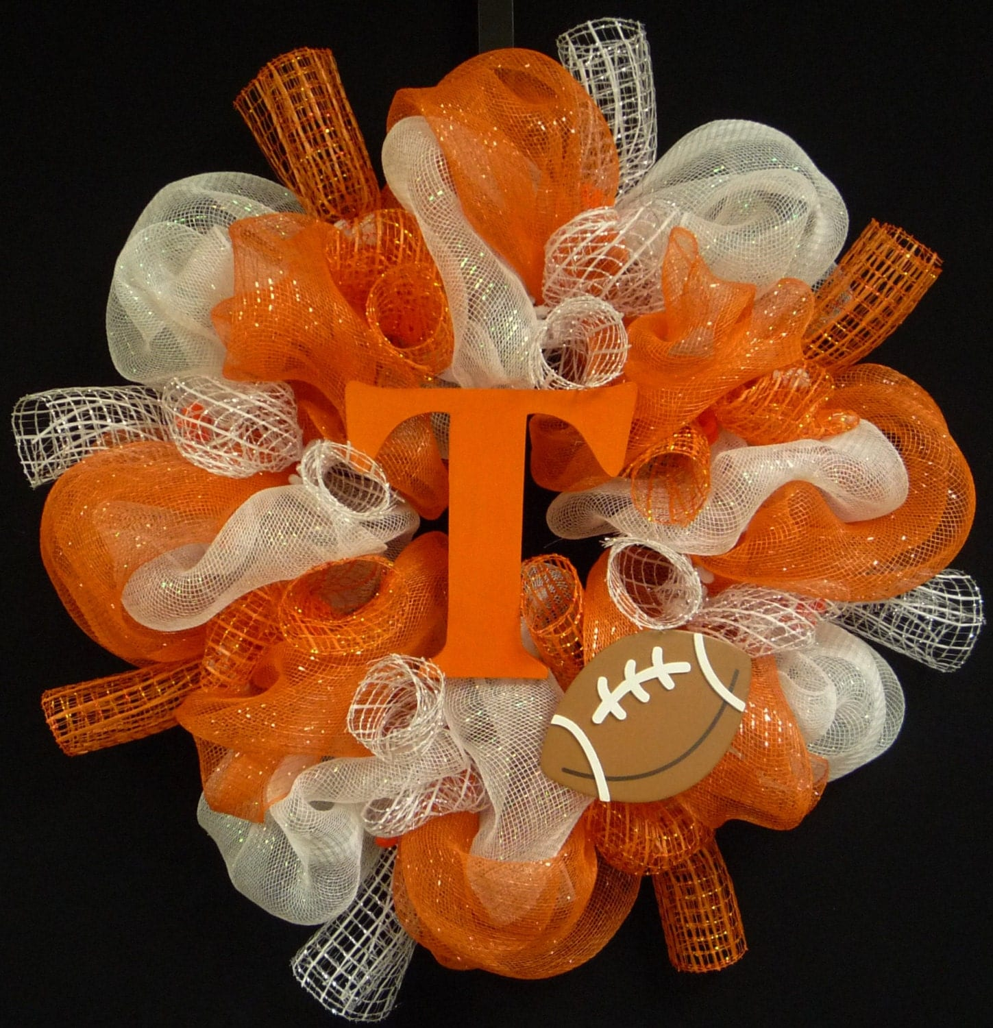 Vols Tennessee Vols Poly Mesh Wreath College Football