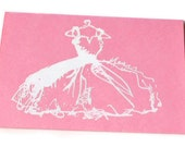 Watermelon and White Bridal Notecard Set of 8 invitations or thank yous