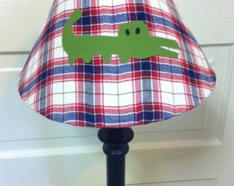 Alligator lamp shade//alligator nursery