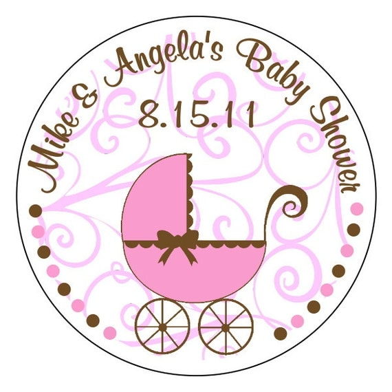 baby shower stickers baby girl stickers pink and brown baby shower