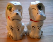 Winking Dogs Salt and Pepper Shakers - Vintage Collectible