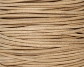 Leather-1mm Round Cord-Natural-2 Meters