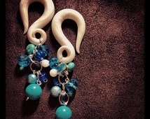 Beaded Dangles - Earrings for Stretched Lobes - Gauges