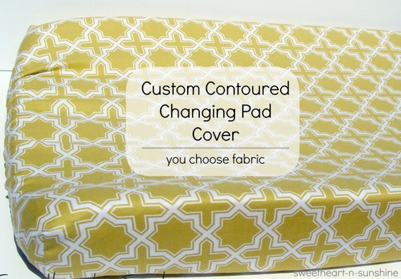 Custom Contoured Changing Pad Cover - YOU CHOOSE FABRIC