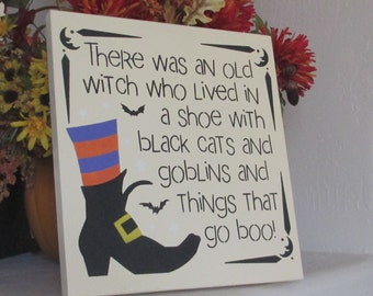 Wooden Halloween Sign  - Halloween Sign - Wooden Sign