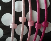 Pink Shades Grosgrain Wrapped Interchangeable Headband- You Choose the Color