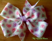 Candy Hearts Large Bow