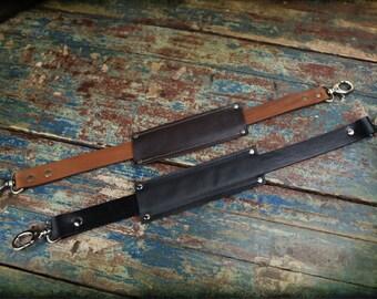 SHORT Extra Leather Shoulder Strap for Convertible bag - Short Strap
