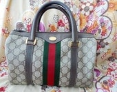Weekend Sale ......Vintage GUCCI Speedy Boston Hand bag with Racer Stripes. Authentic.Excellent Condition.