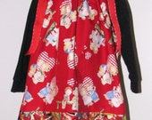 Valentine Dress size 3 4  New handmade kids retro print hearts red