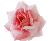 Dusty Pink Rose flower Hair Clip 4 Inch.