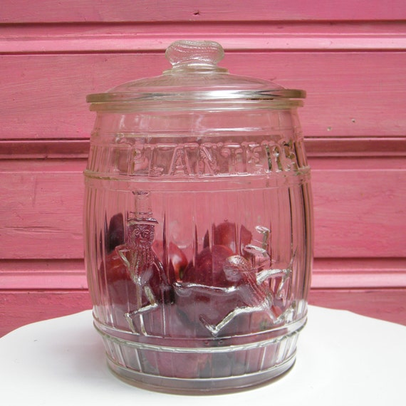 Antique Planters Peanuts Counter Jar Large Glass By