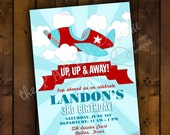 Printable Invitation Design - Little Aviator Retro Airplane Themed Collection - DIY Printables by The Paper Cupcake