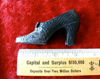 Cast Iron Shoe Vintage with Bow Decorative Well Made high Dress Heel Shoe