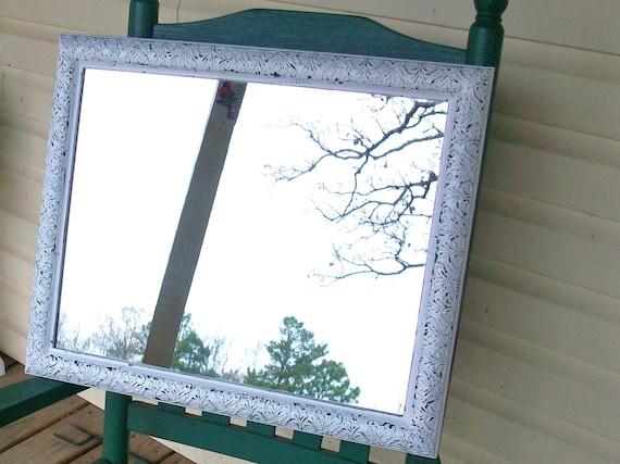 Ornate Chippy White Shabby Chic Wall Mirror