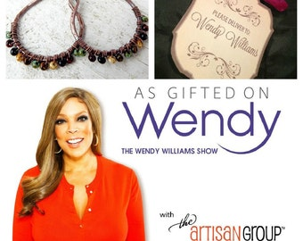 As gifted on The Wendy Williams Show Artisan copper hoops wire wrapped