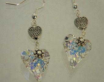 Earrings, Wild Heart Earrings, Crystal Earrings