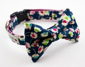 Neon Daisies Dog Bowtie Collar - Liberty of London